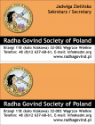 "2008: Business card ""Radha Govind Society of Poland"""